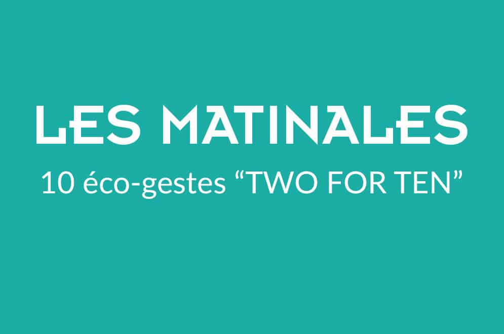"LA MATINALE ""Two For Ten®"""