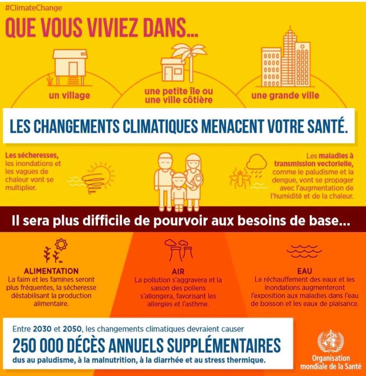 Avant la COP 22 : les recommandations de l'OMS.