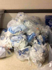 les déchets plastiques à l'hôipital
