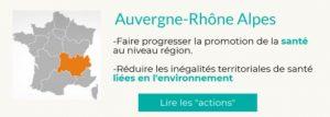 Plan Régional Santé Environnement des 13 régions françaises