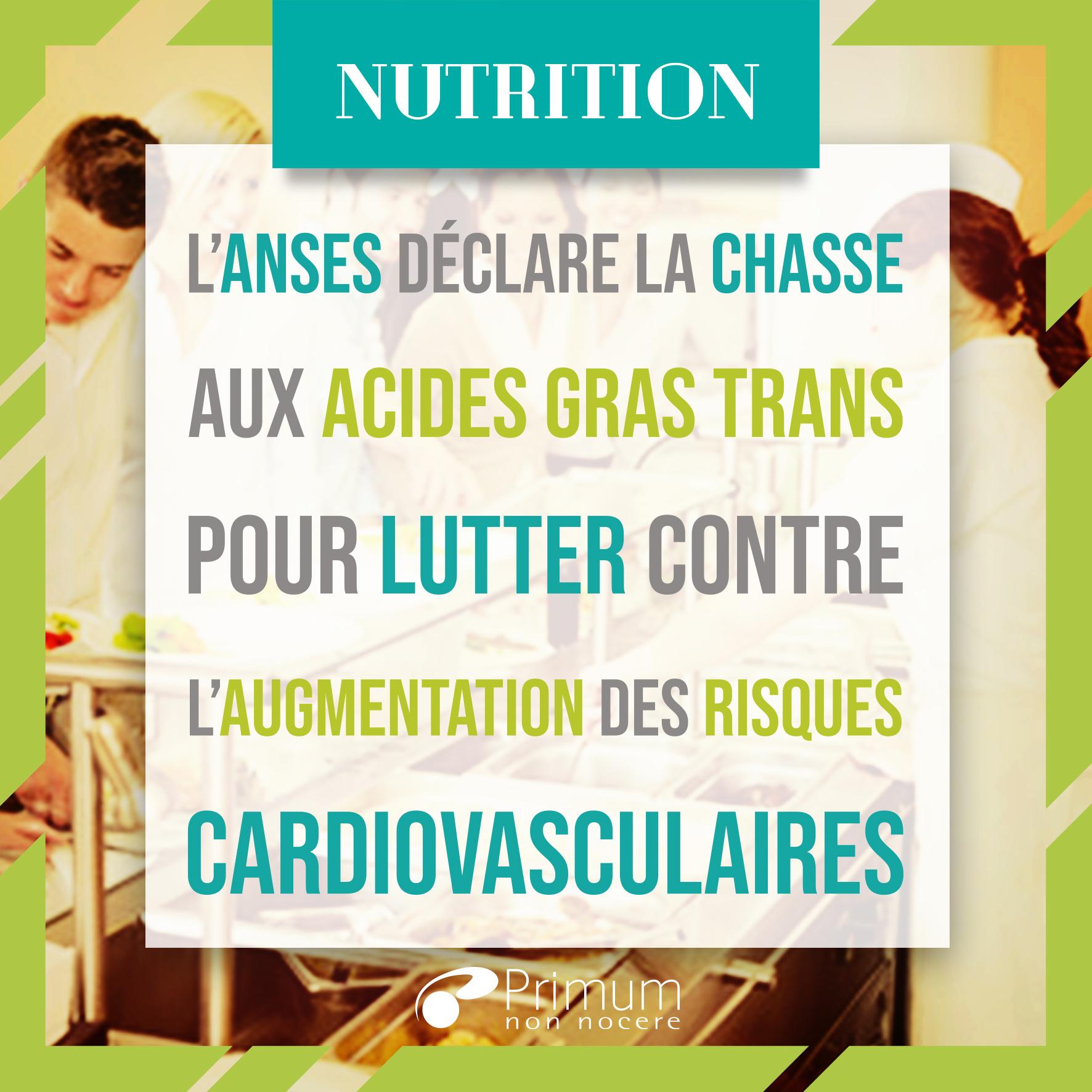 La chasse aux acides gras trans recommandée par l'Anses