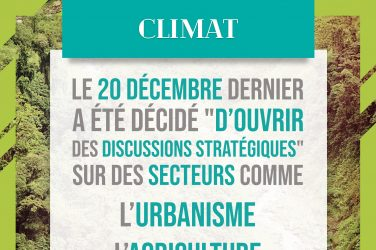 Changement climatique : Les grandes manœuvres