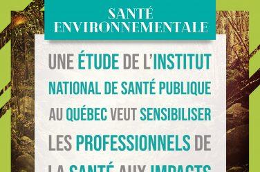 étude institut national de santé publique Québec