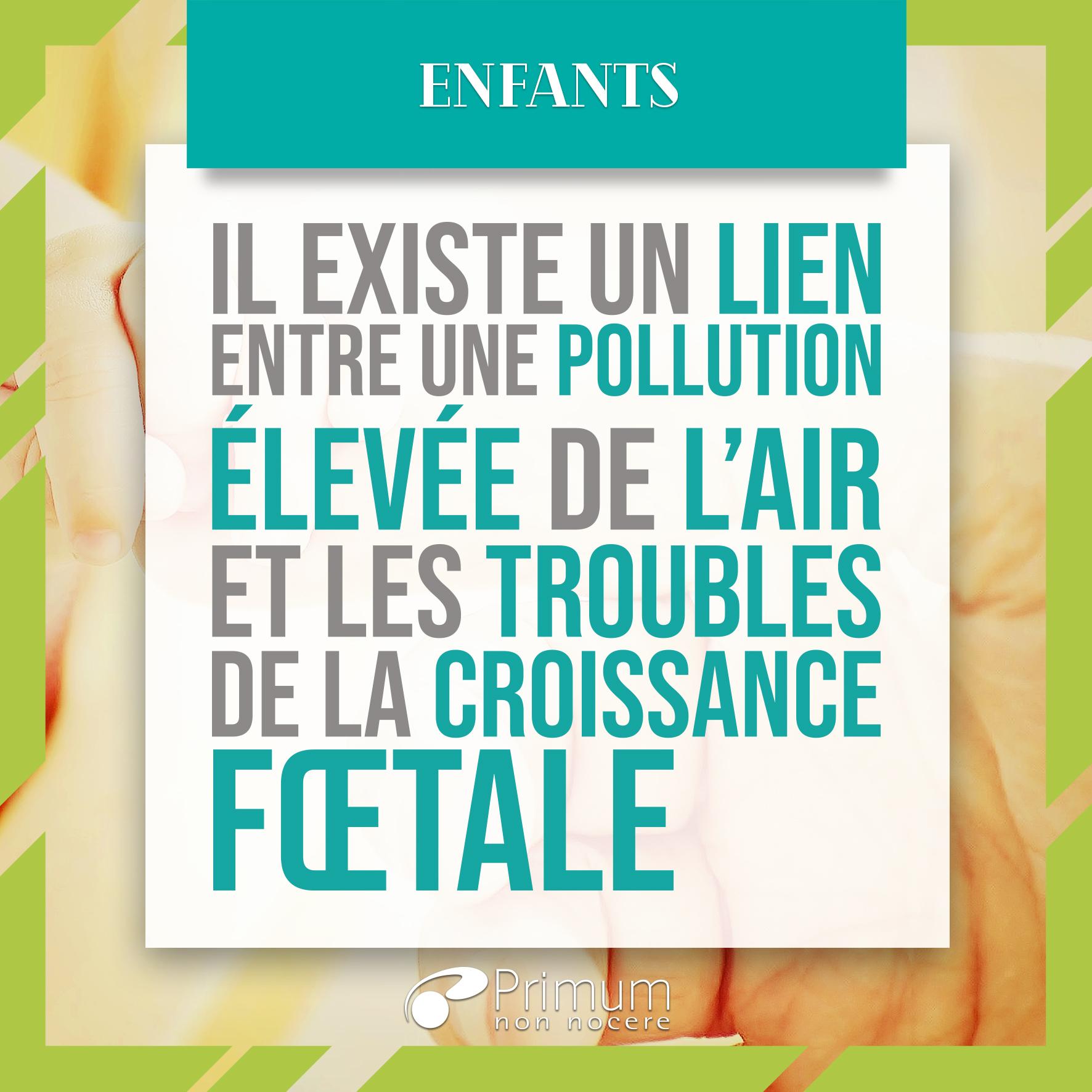 croissance foetale pollution