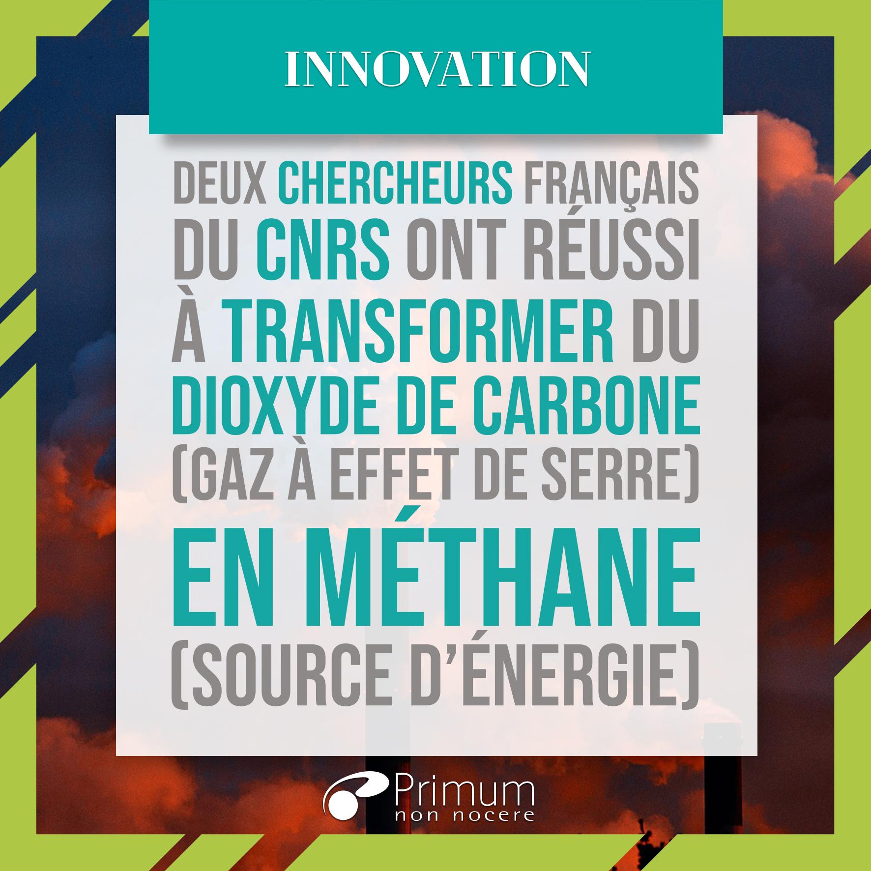 Transformation du gaz carbonique en méthane