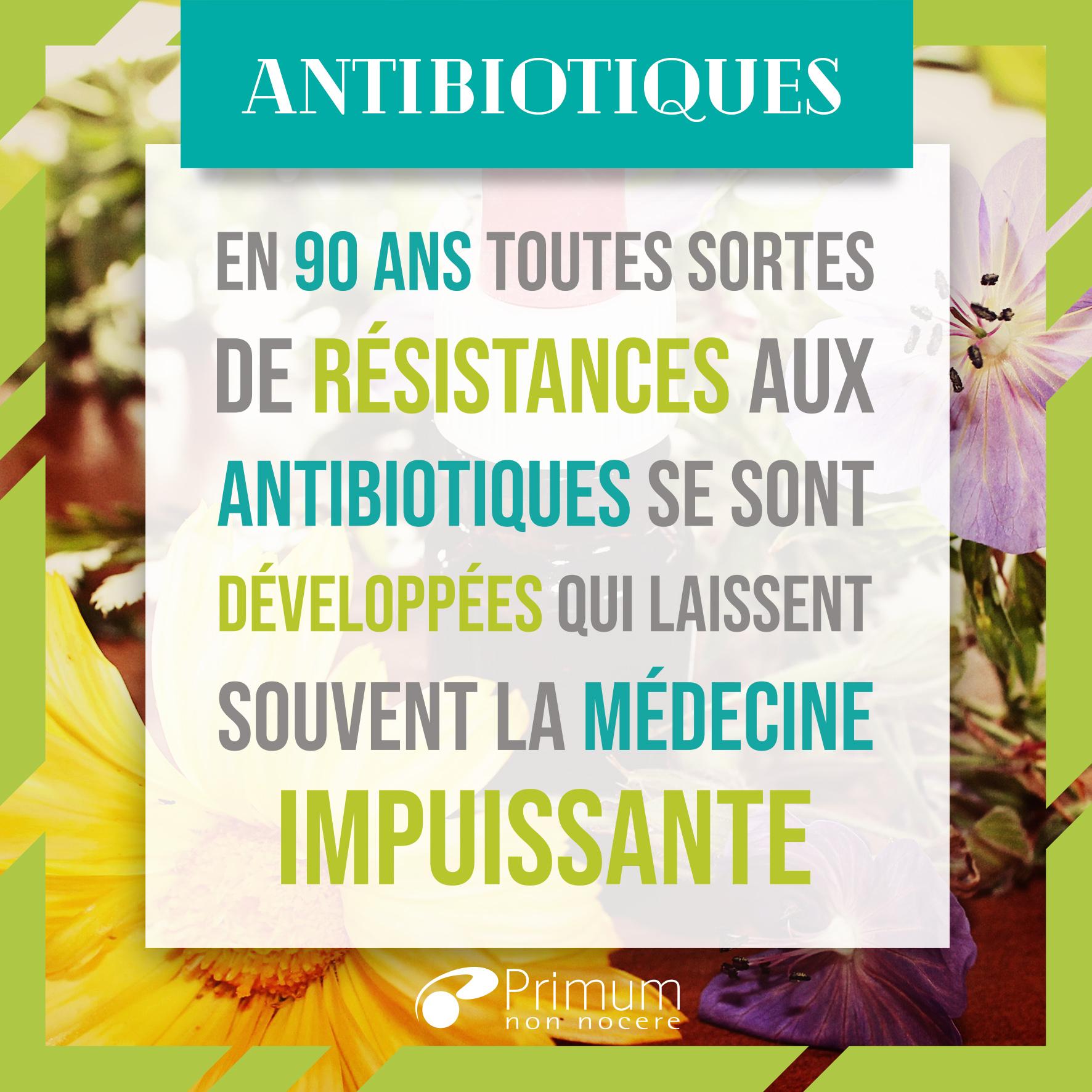 résistances antibiotiques