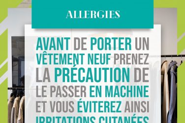 allergies vêtements neufs