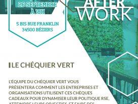 Afterwork : Le chéquier vert